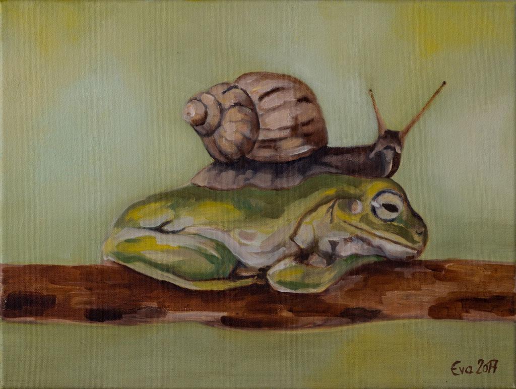 Symbiose / Öl auf Leinwand / 40x30 cm