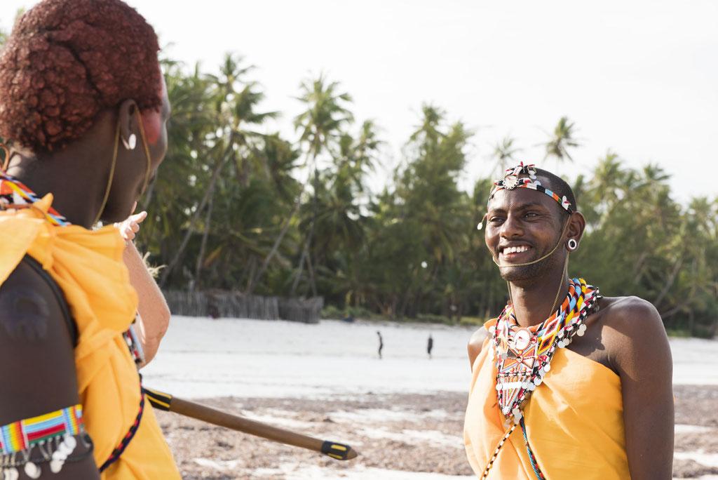 Portraits Fotografie in Kenia, Shooting Masai am Diani Beach