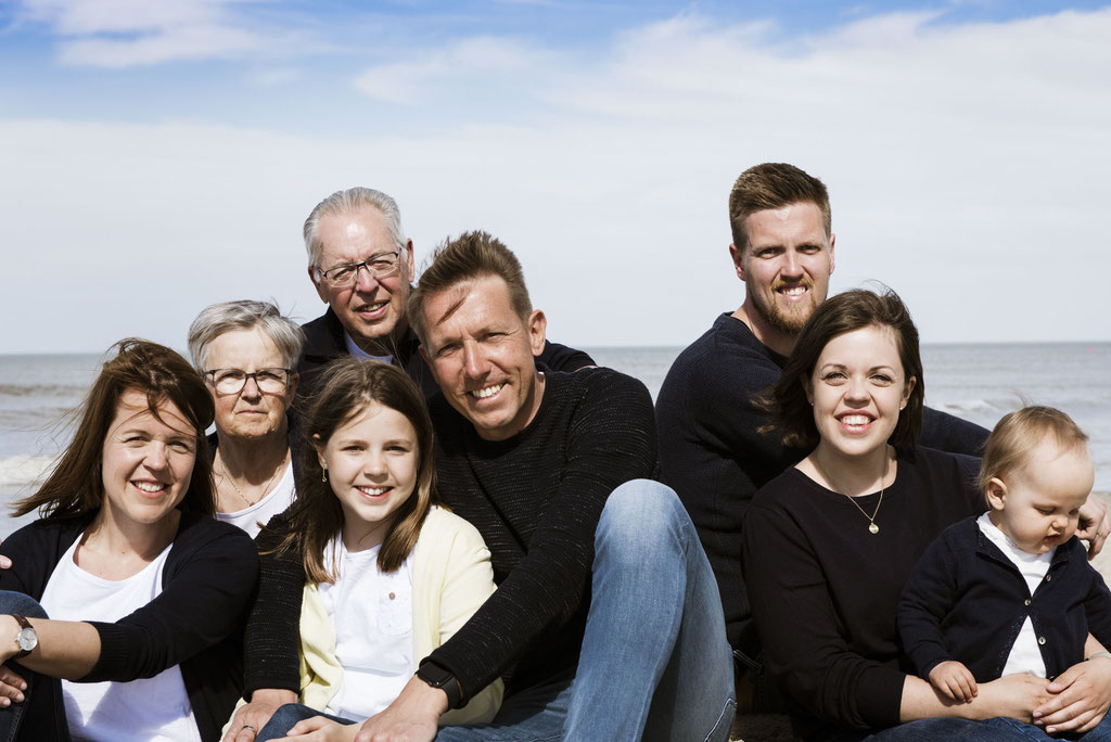 Familienshooting auf Langeoog