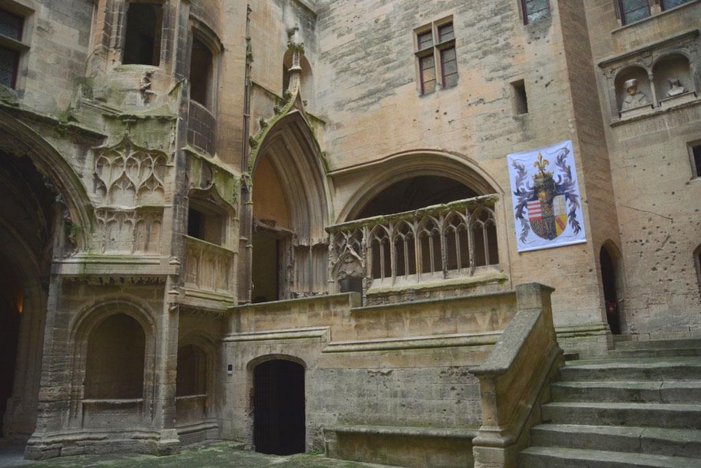 Der Hof von der Burg in Tarascon