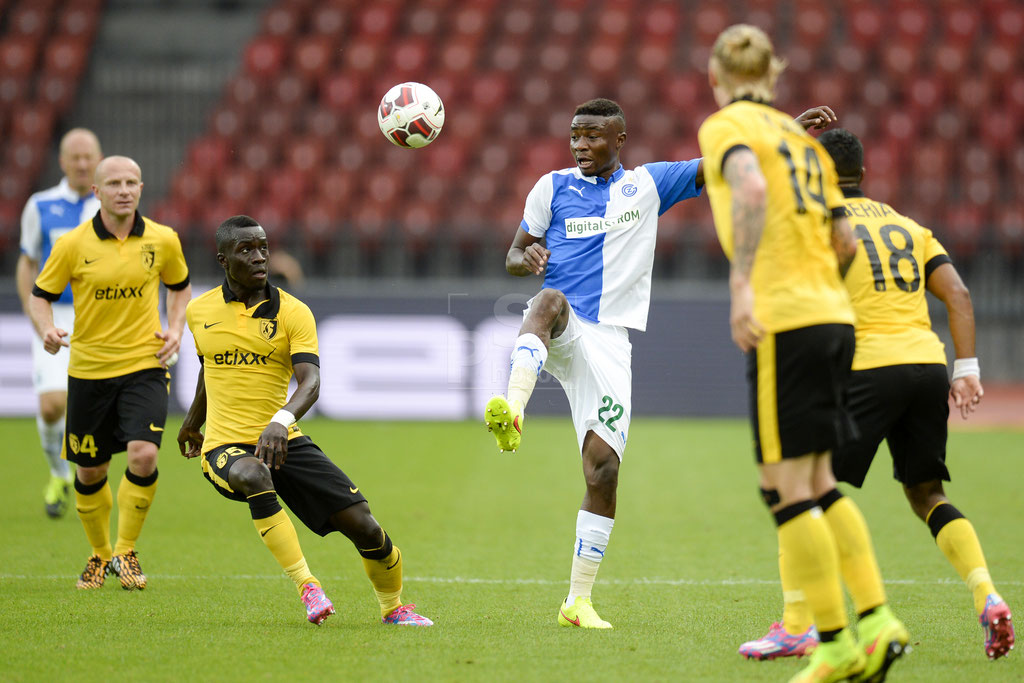 Idrissa Gueye (Lille) gegen Nathan Sinkala (GC) sast-photos