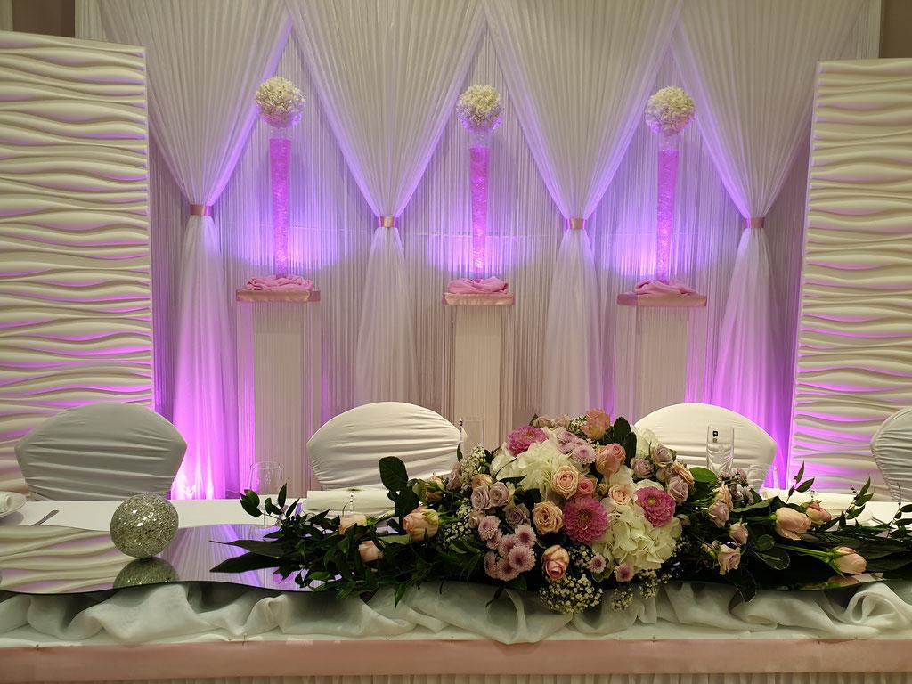 Brautpaartisch Blumengesteck