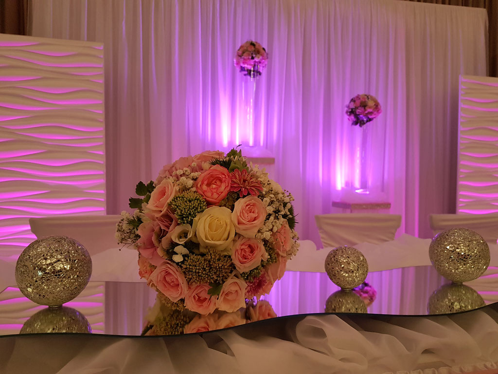 Brautpaartisch Blumenkugel