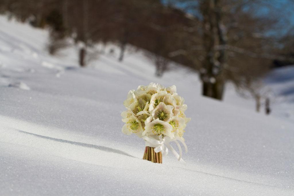 Brautstrauss mit handgebundenen Christrosen  |  180 CHF
