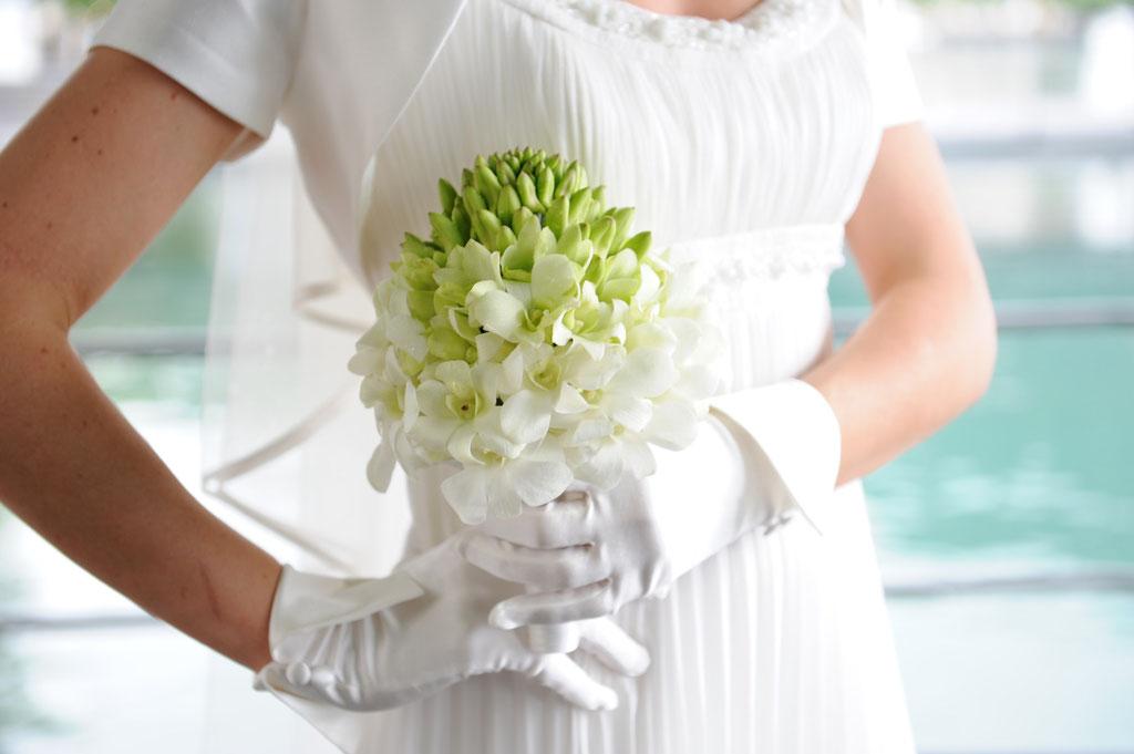 Brautstrauss mit Dendrobiumorchideen  |  240 CHF