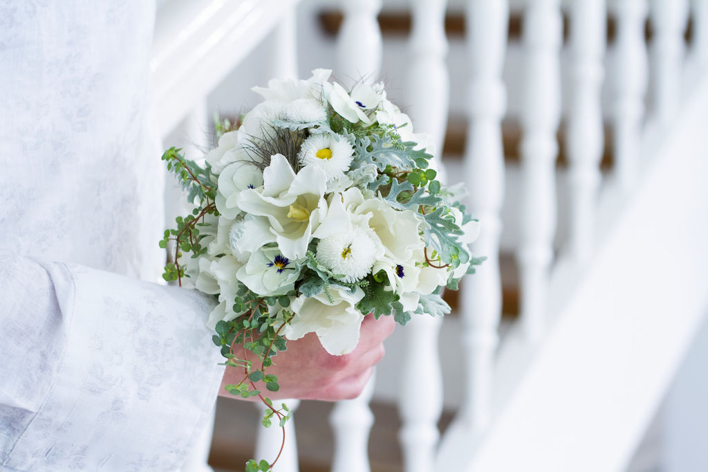 Brautstrauss mit gemischten Sommerblüten  |  160 CHF
