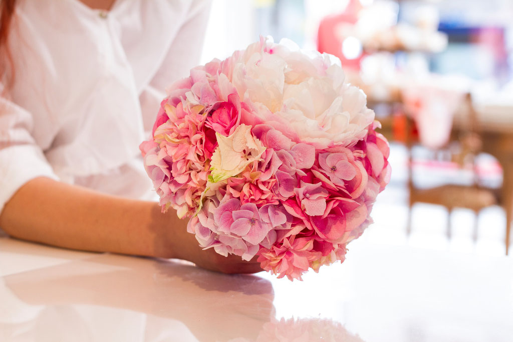 Brautstrauss mit Pfingstrose und Hortensienblüten  |  180 CHF