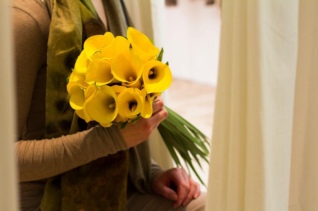Brautstrauss mit gelben Calla  |  170 CHF