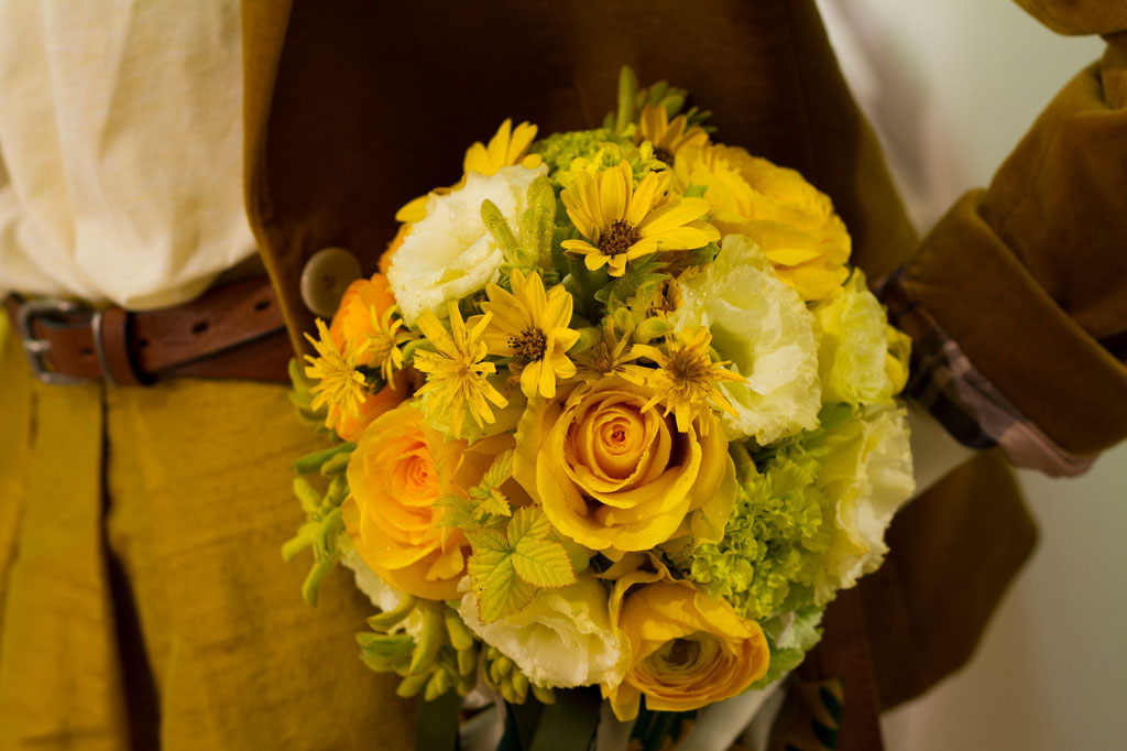 Brautstrauss in knalligem Gelb  |  165 CHF