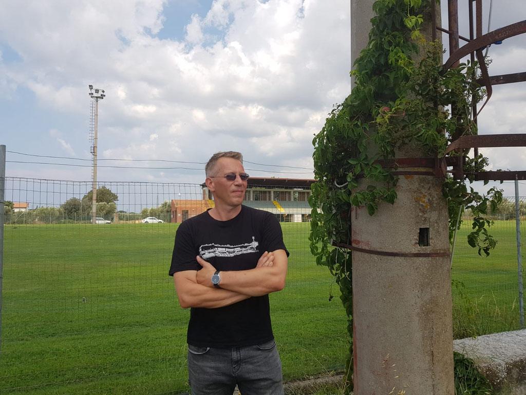 Für Mathias spielt auch im Urlaub der Fußball eine entscheidende Rolle