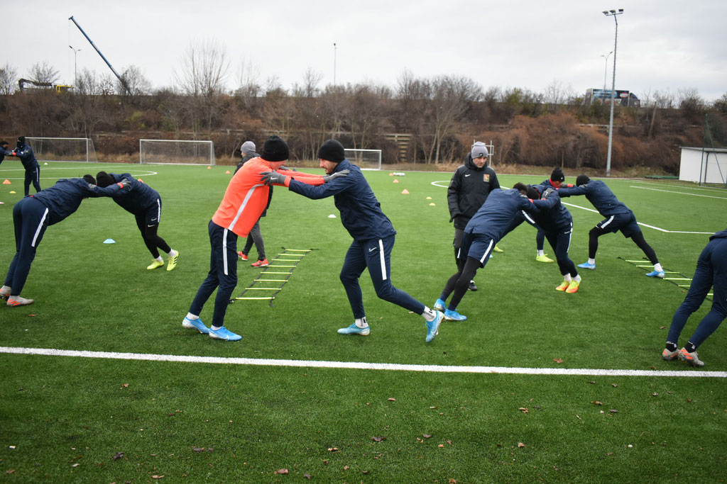 Teambuilding steht an oberster Stelle bei den Trainingseinheiten bevor es aufs Trainingslager geht