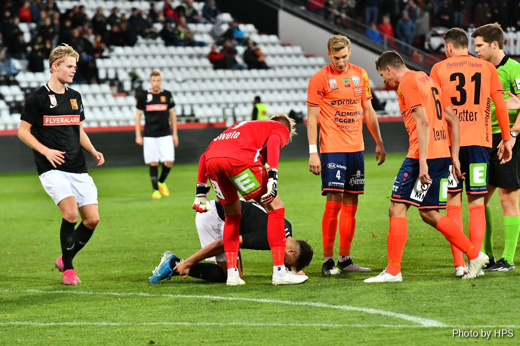 Nach unsportlichem Verhalten musste Rene Swete vorzeitig den Platz verlassen