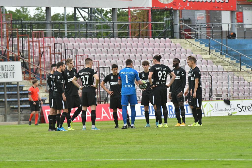 Der Kapitän Andreas Leitner schwor vor allem die jungen Wilden auf das Spiel gegen Altach ein
