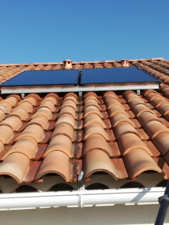 Nettoyage panneaux solaires toiture