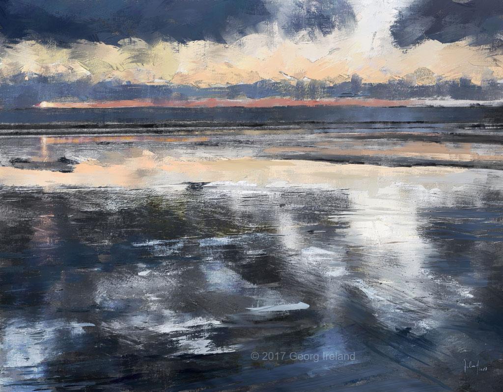 Winterabend im Wattenmeer