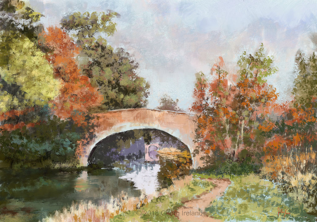 Klarer Herbstmorgen am Kanal