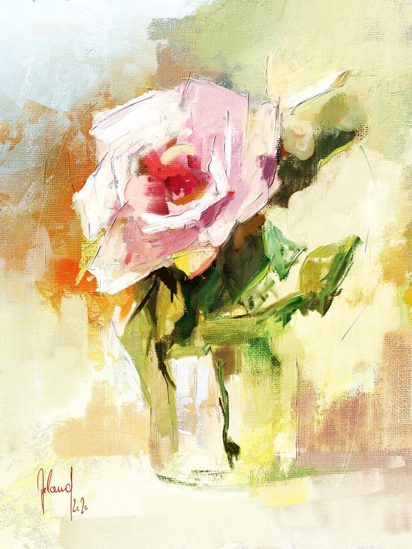Stillleben mit Rose 3