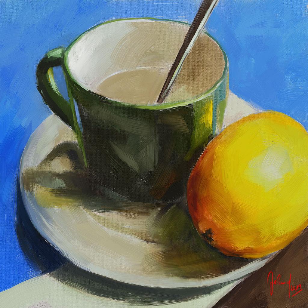 Warmes Wasser mit Zitrone
