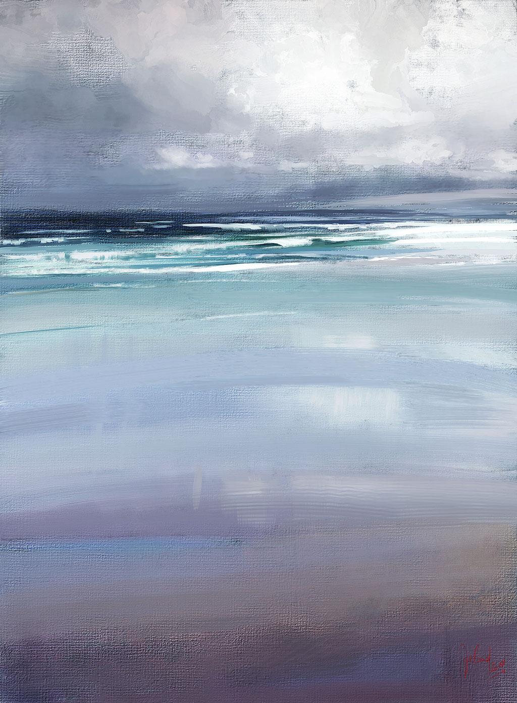 Regentag am Meer