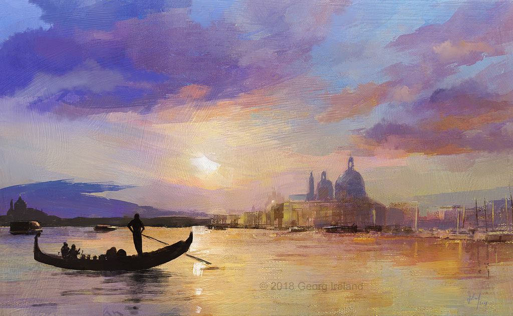 Sonnenuntergang über dem Canale Grande