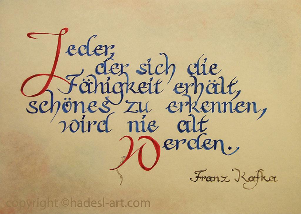 """""""Fähigkeit""""...kalligrafie 2012  (41 cm x 51 cm)  verkauft"""