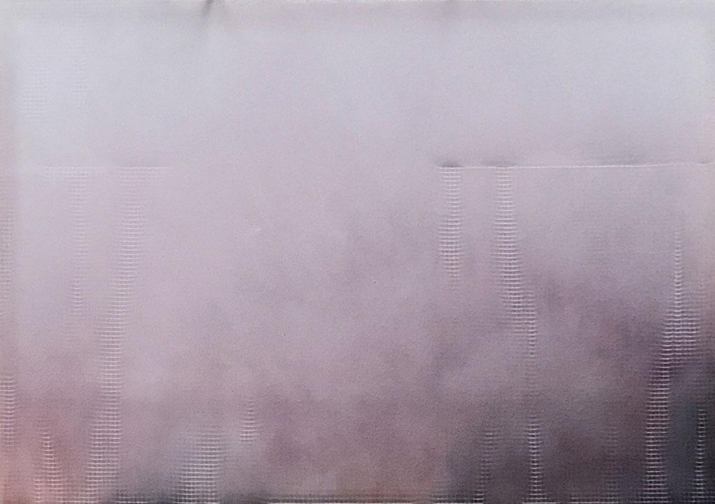 ,,Dispersion auf Gewebe'' 2017 / 160x220x10 cm Lack und Baumwolle