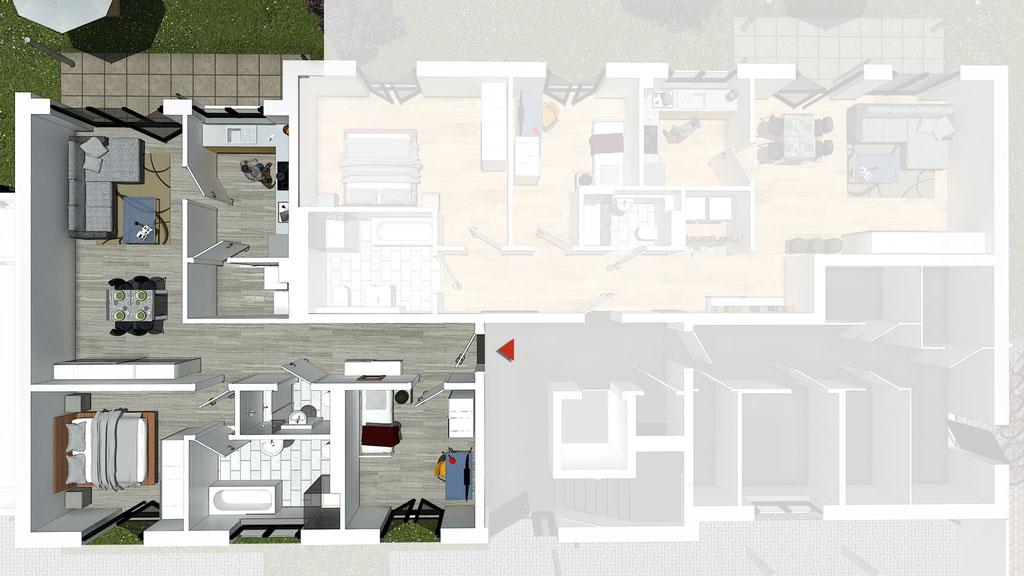 Wohnung A2 / B2 - ca. 89,4 m² - Wohnbeispiel 1