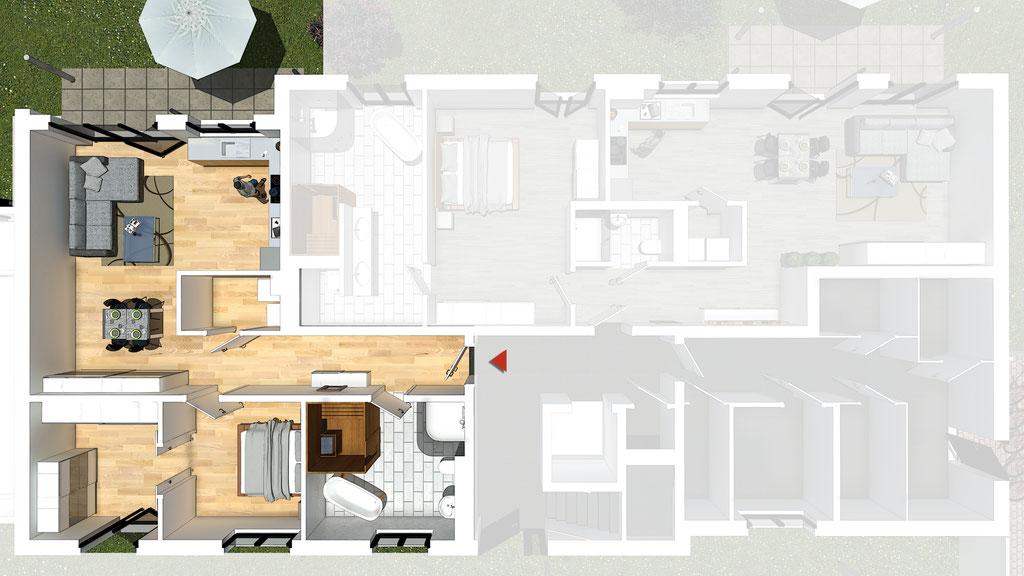 Wohnung A2 / B2 - ca. 89,4 m² - Wohnbeispiel 2