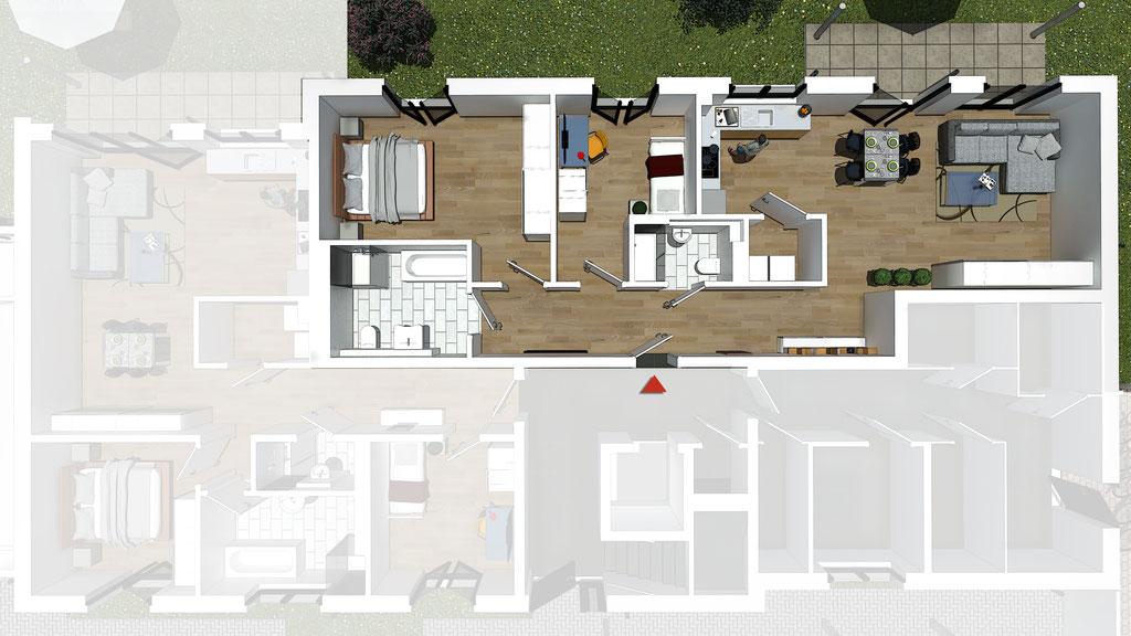 Wohnung A1 / B1 - ca. 99,0 m² - Wohnbeispiel 2