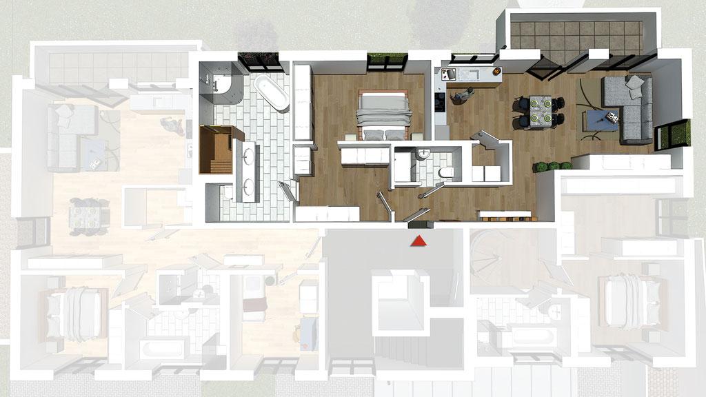 Wohnung A3 / B3 - ca. 95,8 m² - Wohnbeispiel 2