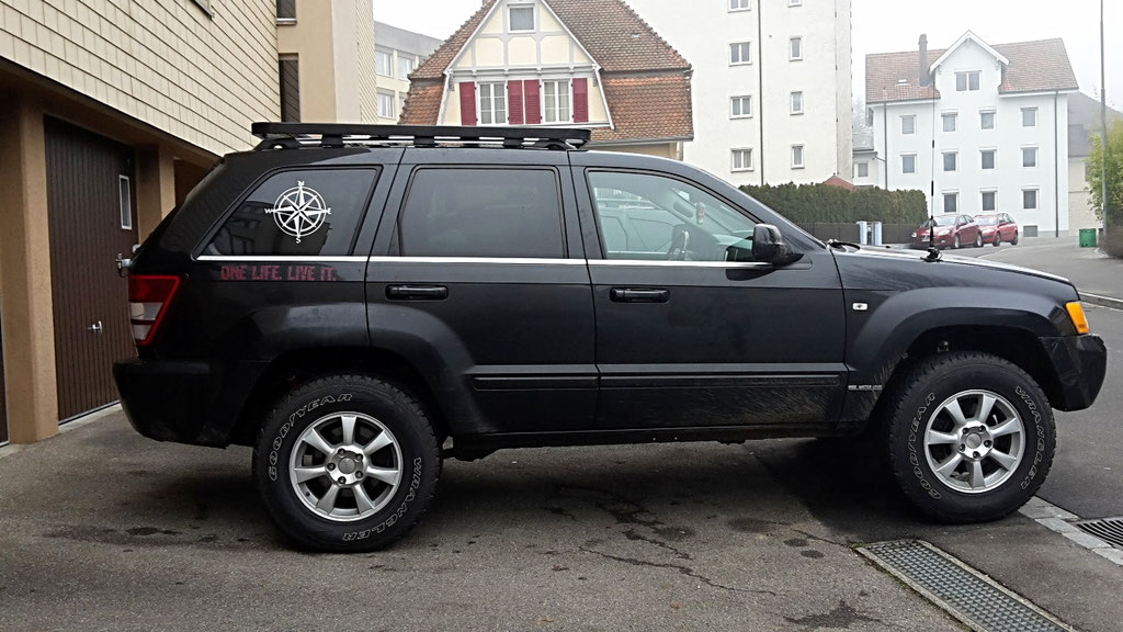 Frontrunner Wolf-78 Offroad Dachträger Jeep Grand Cherokee WH WK overland expedition 4x4