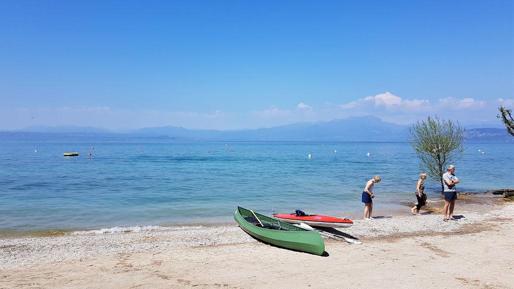 Camping Fosallta Italien Gardasee Lago di Garda Italia spiagga strand wolf78-overland.ch