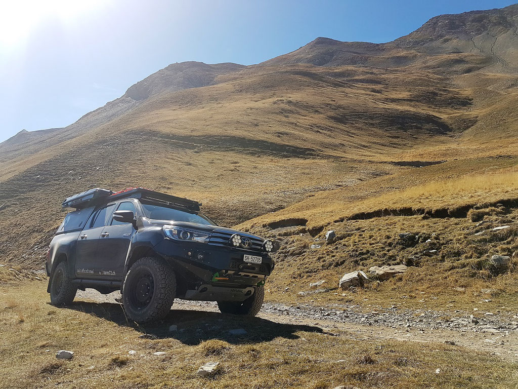 Westalpen Col du Parpaillon Frankreich Alpen Toyota Hilux Revo 2016 2017 #ProjektBlackwolf offroad overland expedition Alu-cab AFN 4X4 ARB Frontrunner Outfitters Rival James Baroud Discovery bfgoodrich TJM wolf78-overland.ch offroadaccessoires.ch