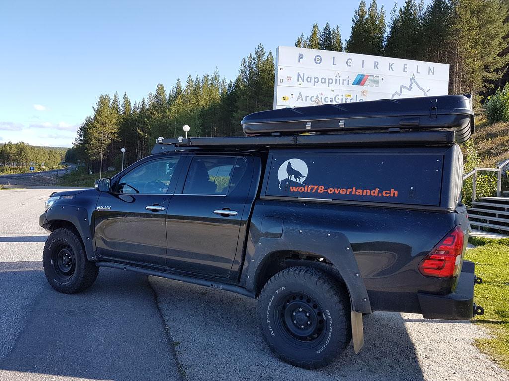 Polarkreis Arctic Circle Schweden Dachzelt Hilux #Projektblackwolf Skandinavien #NordkappUndZurück #Driveyourownway #explorewithoutnoimits wolf78-overland