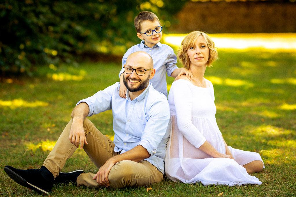 Photo de famille en attendant bébé