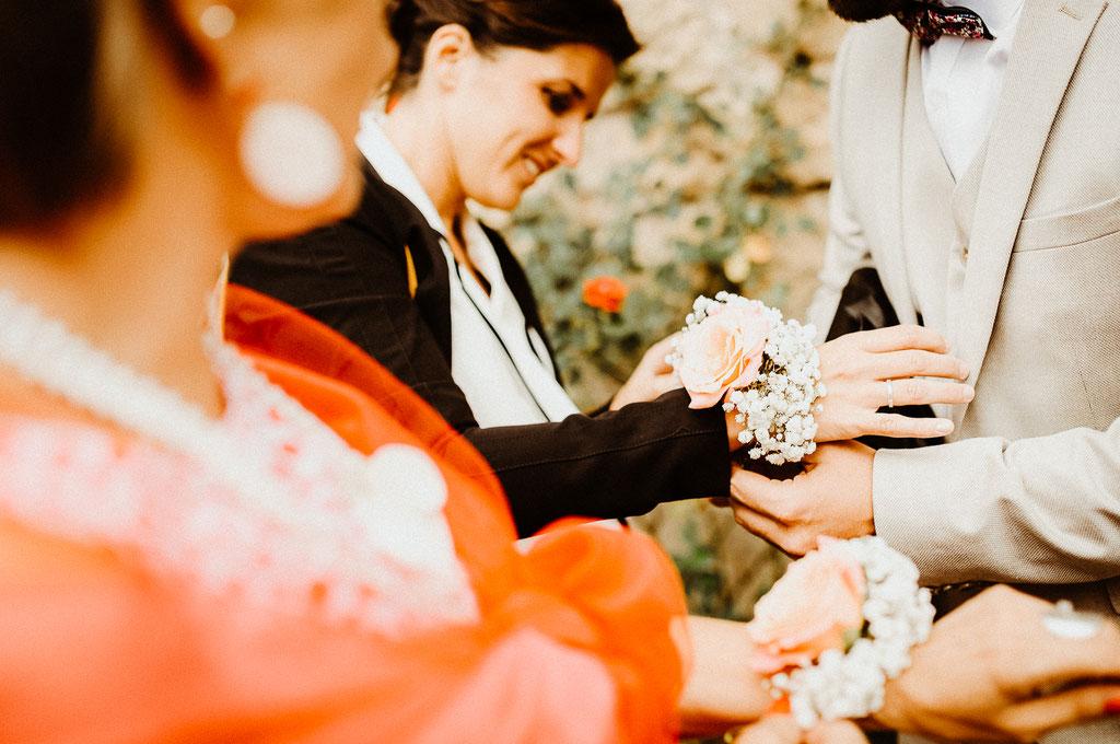 Bracelets fleuris de mariages