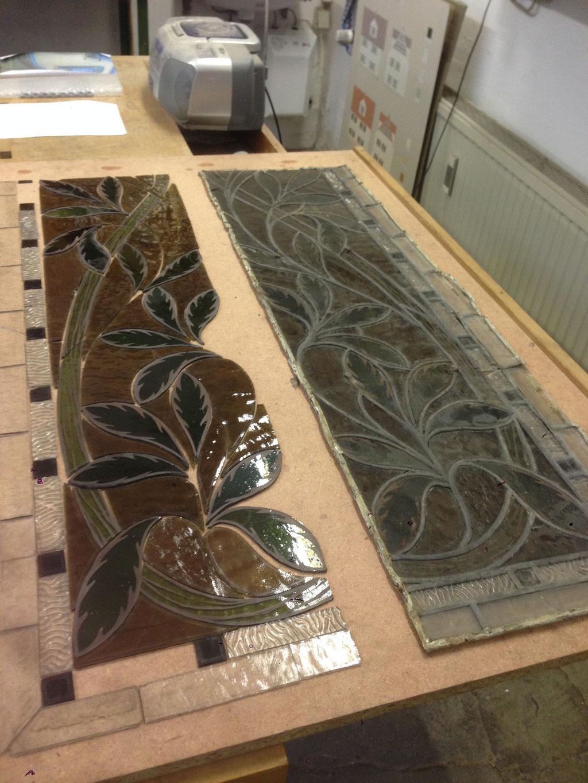 Beispiel für Bleiglas Restaurierungen