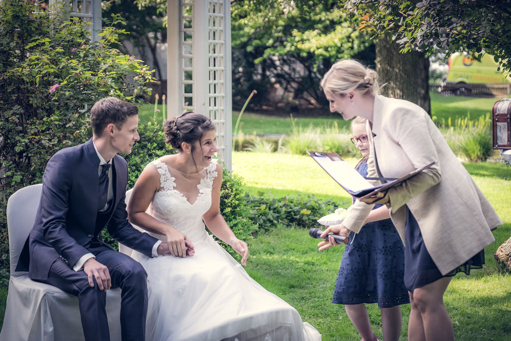 Interaktion mit dem Hochzeitspaar