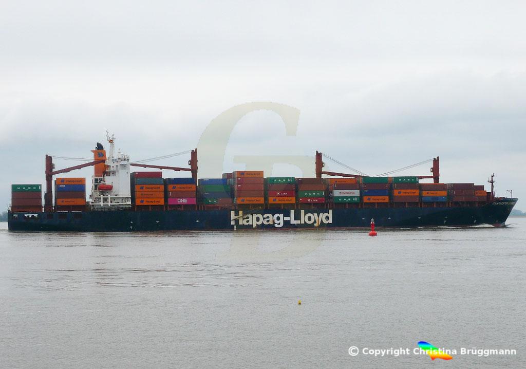 Containerschiff CHARLESTON EXPRESS, Elbe 04.04.2019,  BILD 4
