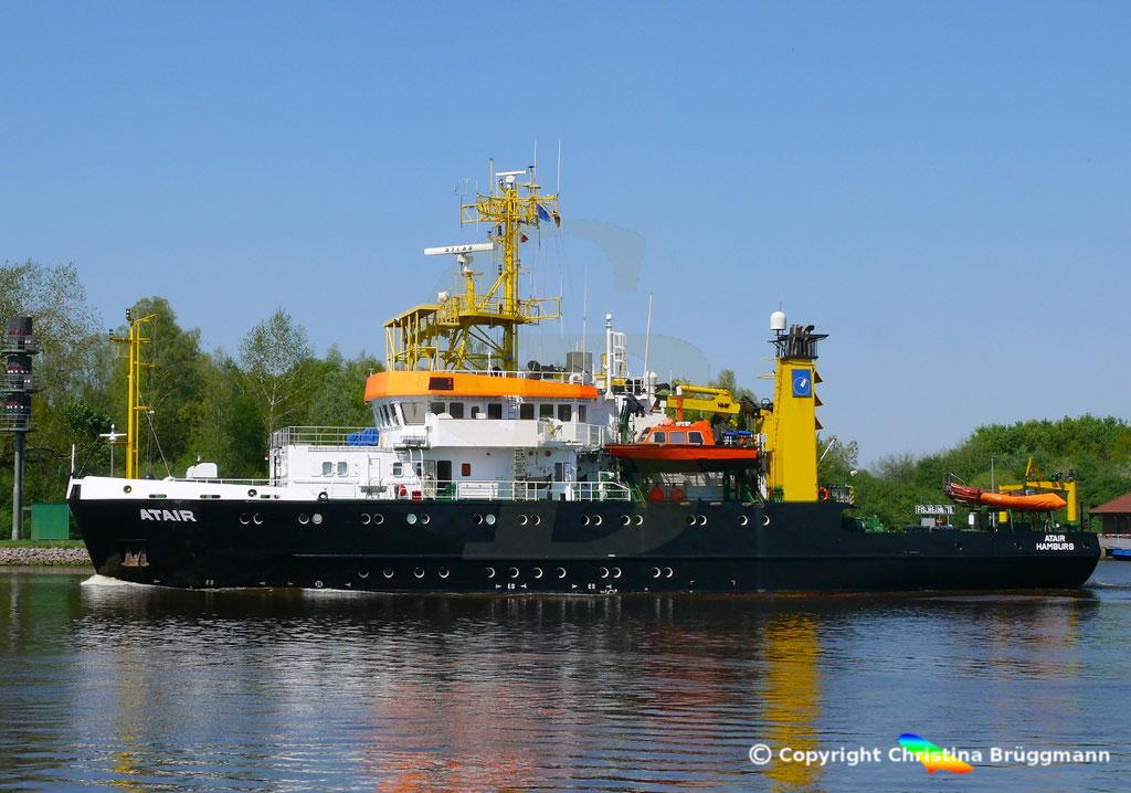 Vermssungs- Wrachsuch- u. Forschungsschiff ATAIR, Nord-Ostsee Knal 09.05.2019, BILD 4