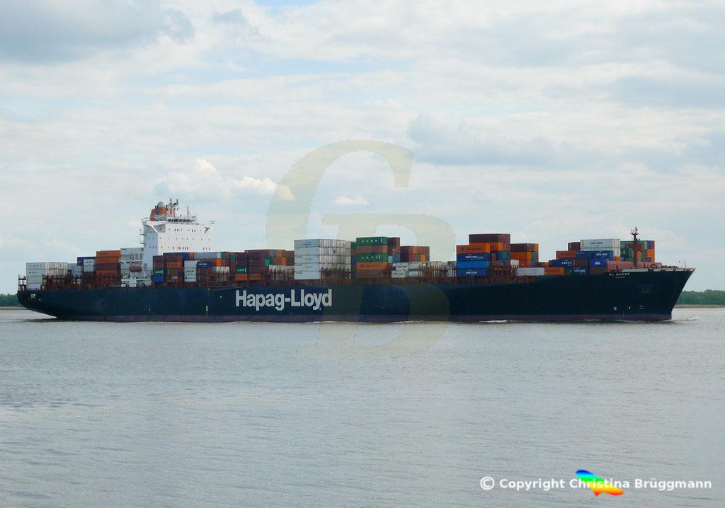 Hapag-Lloyd Containerschiff AL SAFAT, Elbe 09.05.2019 /  BILD 3