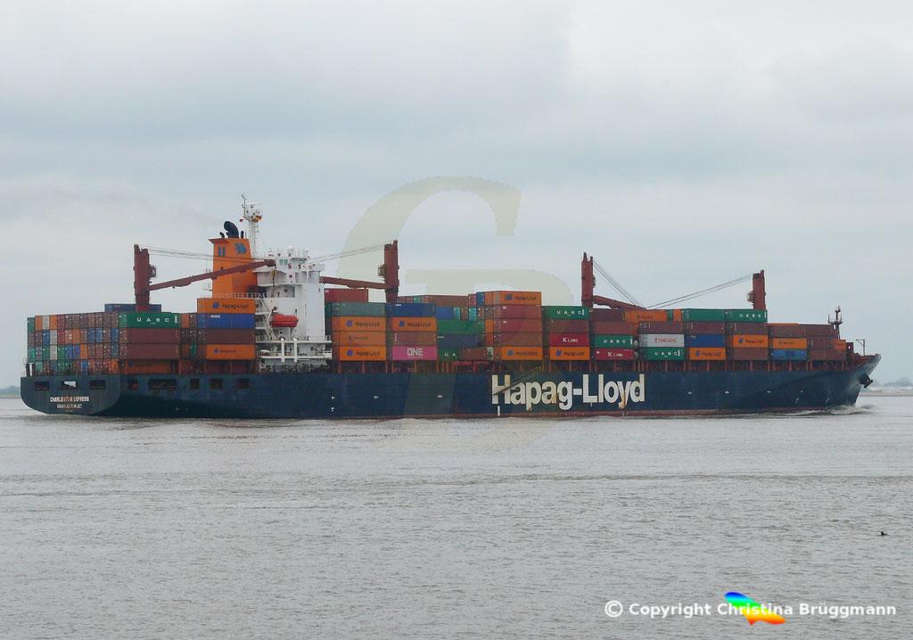 Containerschiff CHARLESTON EXPRESS, Elbe 04.04.2019,  BILD 5