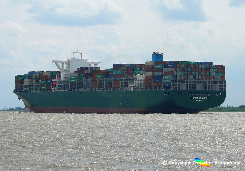 Containerschiff TOKYO TRIUMPH, Elbe 06.06.2017 / BILD 6