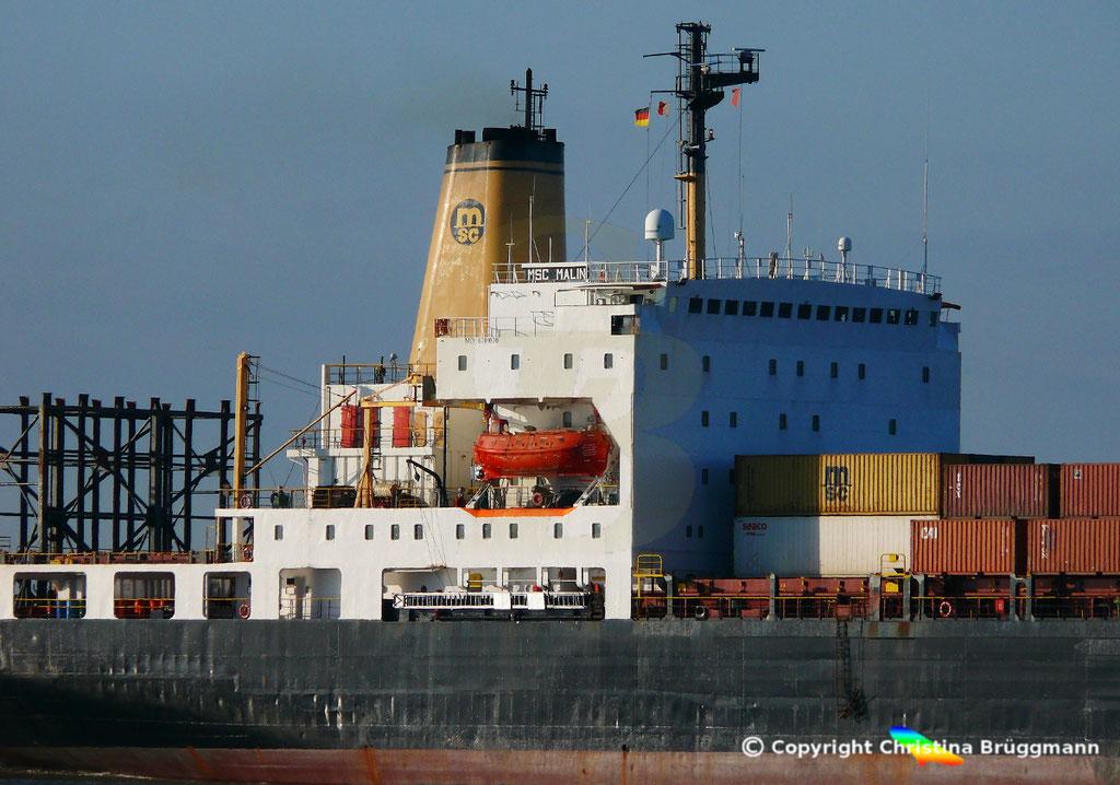 Containerschiff MSC MALIN, Elbe 10.04.2019,  BILD 4