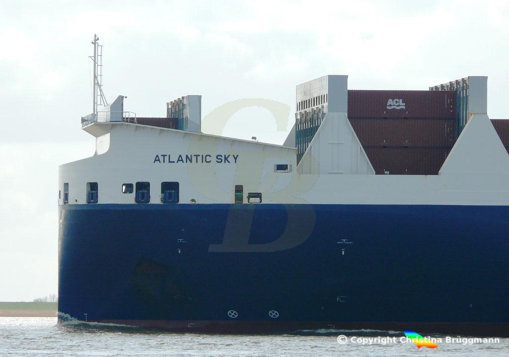 Con-Ro Frachter ATLANTIC SKY; Elbe 19.03.2019,  BILD 4