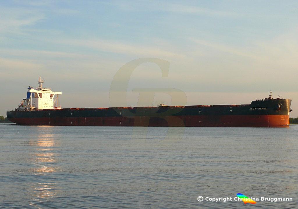 Bulk Carrier ABOY SIENNA, Elbe 17.09.2018, Bild 5