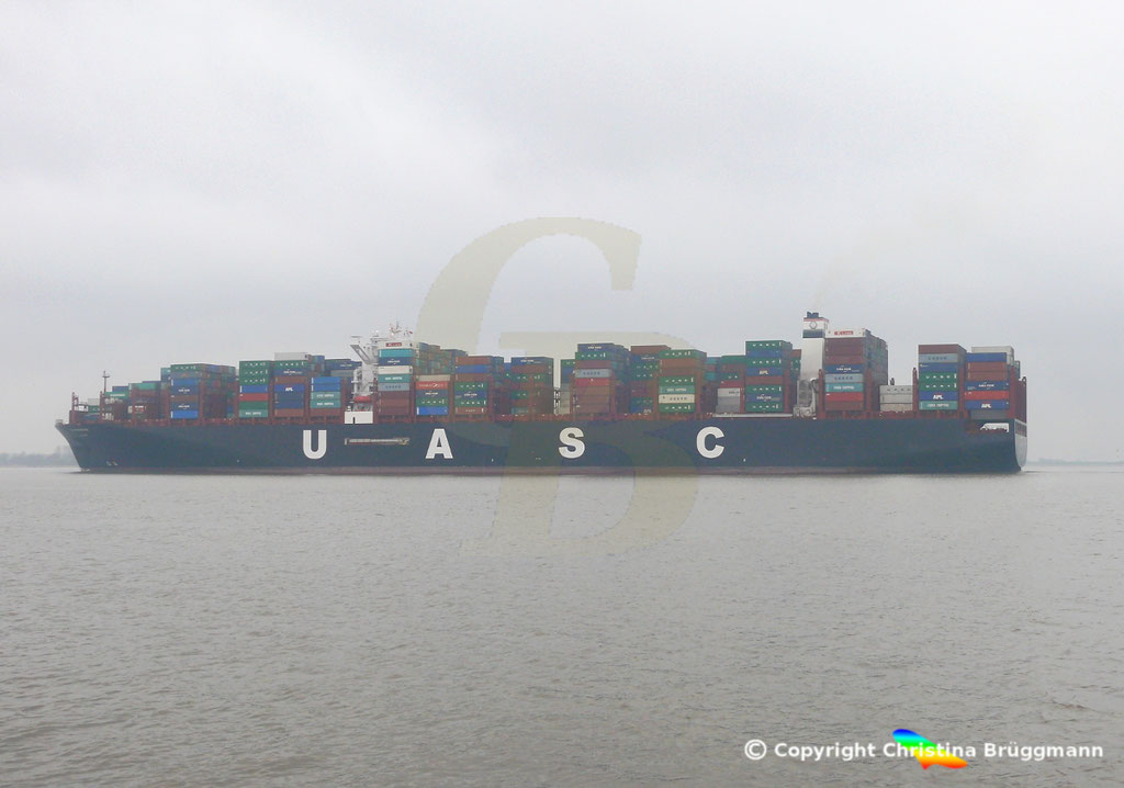 Containerschiff AL MASHRAB, Elbe 29.03.2017, BILD 4