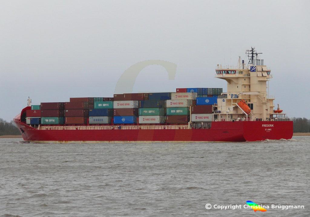 Containerschiff FREDERIK, Elbe 09.03.2019, Bild 8