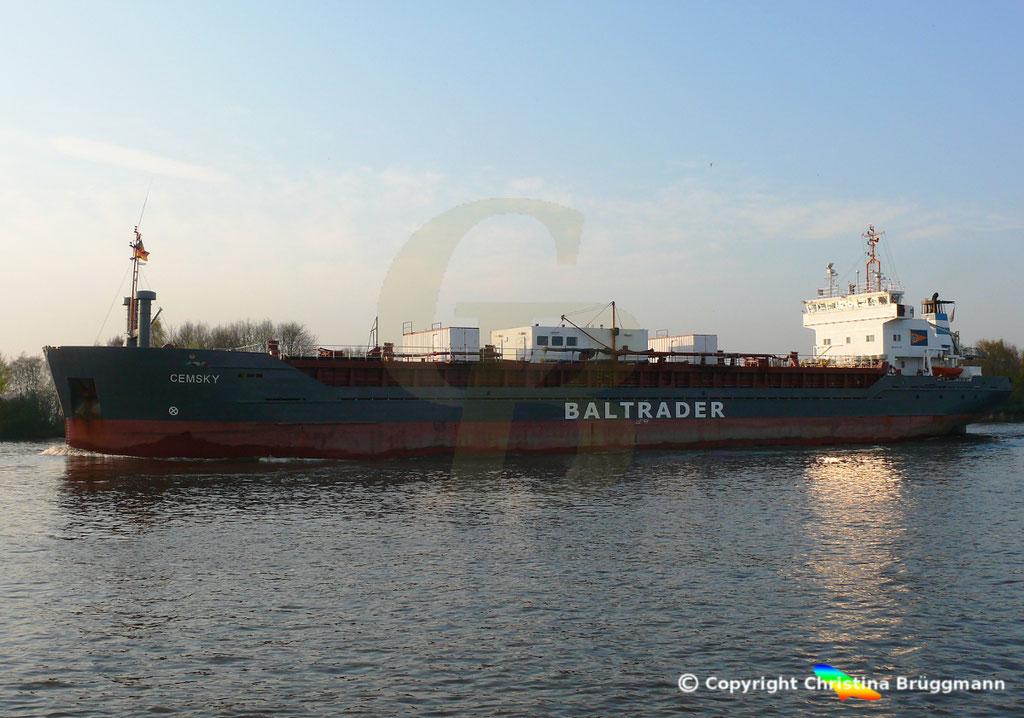 Zementfrachter CEMSKY, Nord-Ostsee-Kanal, 07.04.2029,   BILD 4