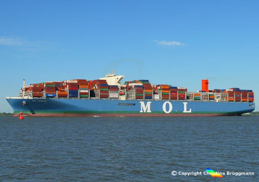 Containerschiff MOL TRIBUTE, Elbe 06.06.2018, BILD 3